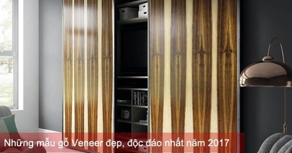 Những mẫu gỗ Veneer đẹp, độc đáo nhất năm 2017