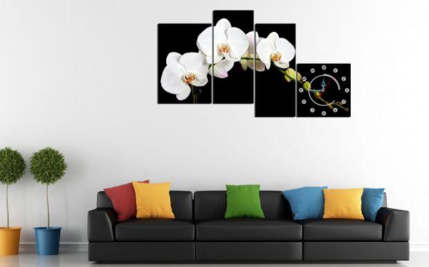 Tranh hoa phong lan trắng tốt cho người tuổi Dần mệnh Kim