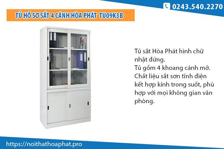 Tủ hồ sơ sắt Hòa Phát TU09K3B