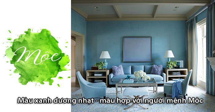 Người mệnh Mộc có thể chọn nội thất màu xanh dương nhạt