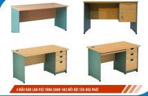 4 mẫu bàn làm việc vàng xanh 1m2 nổi bật của Hòa Phát