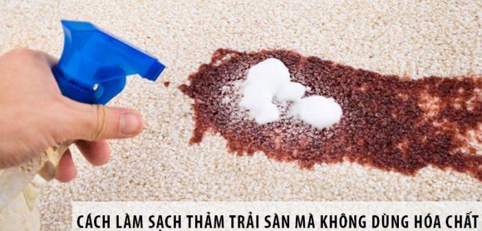 Cách làm sạch thảm trải sàn mà không dùng hóa chất