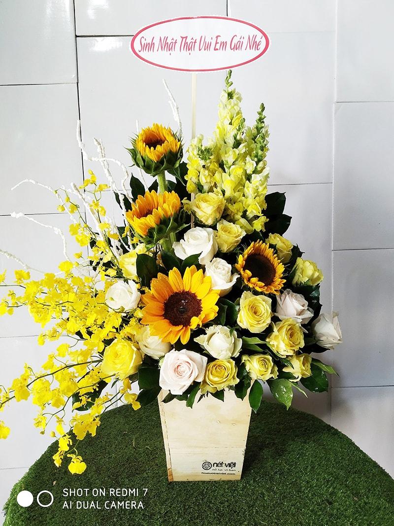 Nên tặng hoa hướng dương may mắn ngày khai trương