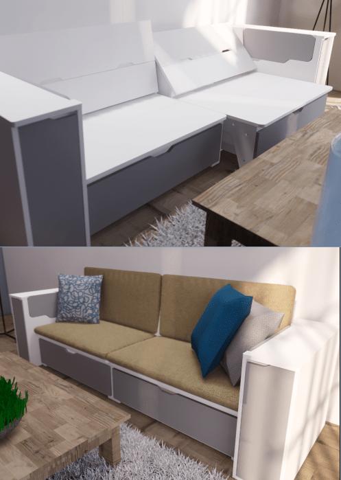 Sofa tiện ích của DeYoLi