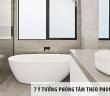 7 ý tưởng phòng tắm hoàn hảo theo phong cách tối giản