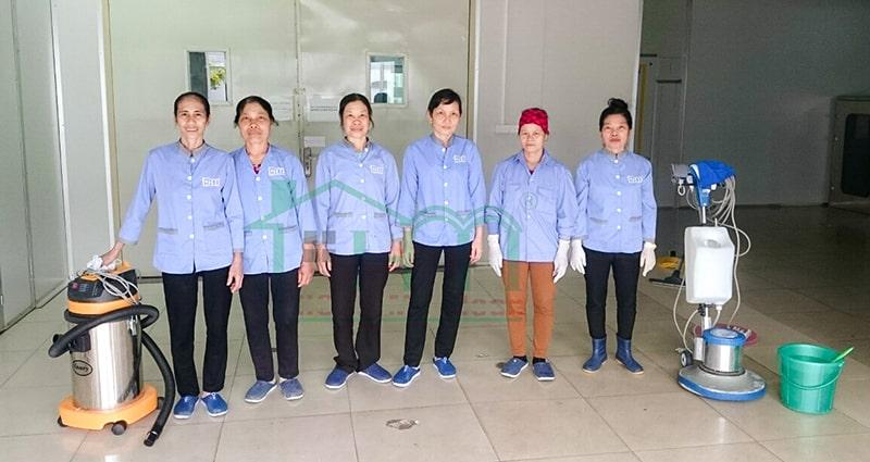 Đội ngũ nhân viên trung thực, chăm chỉ của Hoàn Mỹ Clean